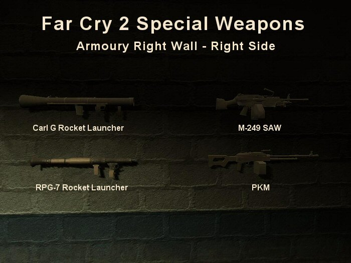 Far Cry 2: Special Weapons - Rocket Launchers, Light Machine Guns